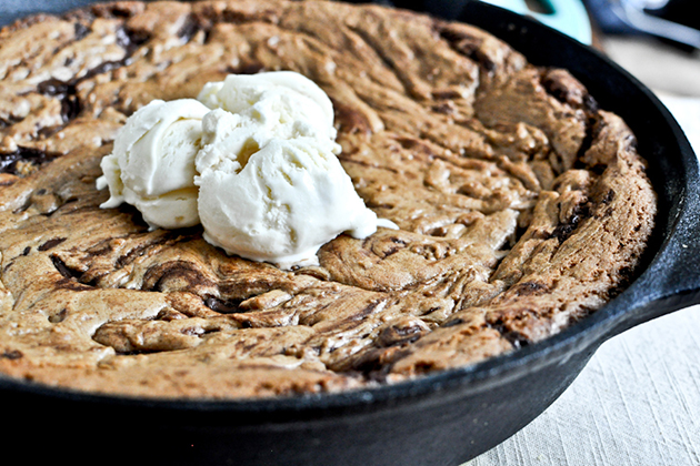 Dark Chocolate Chunk Skillet Cookie (Tasty Kitchen)